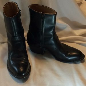 Mid-calf leather women's cowboy boots, USA made